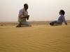 Un alto sobre la dunas del Desierto Blanco, en Egipto