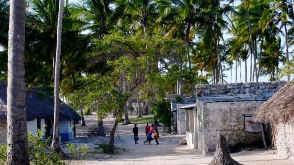 Una de las aldeas de la isla de Matemo