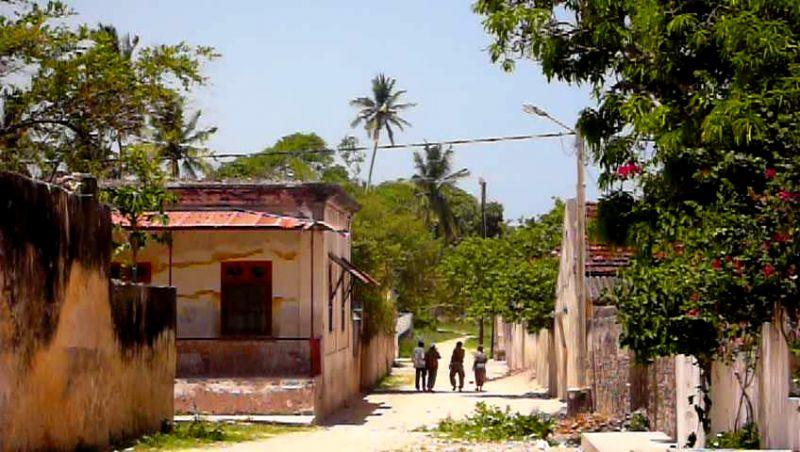 Calles de la isla de Ibo