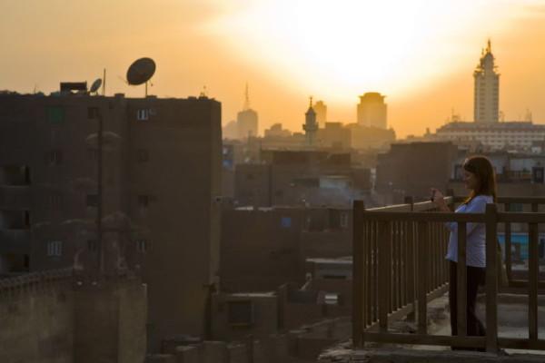 Fotografiando un atardecer en El Cairo