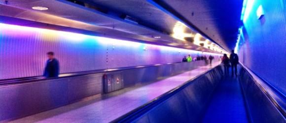Luces del aeropuerto de Frankfurt
