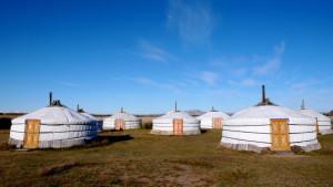 Campamento de yurtas o gers en el que hacer noche.
