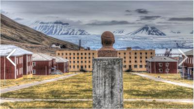 El busto de Lenin mira hacia este glaciar de las Svalbard @luisdavilla