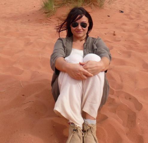 Elena en Wadi Rum, Jordania