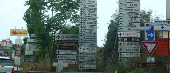 Cómo para perderse en Sicilia!