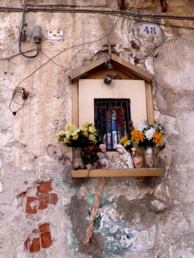 Templete callejero en Sicilia