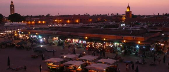 Plaza de Djemaa El Fna, Marrakech, Marruecos
