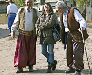 Una servidora con los cosacos de Petrykivka
